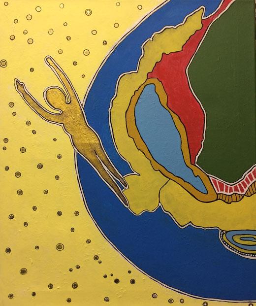 Griffi Roberta (Italia) - il volo - acrilico su tela - 50 x 60