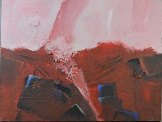Olivier Steffens - Astratto - olio su tela - 45 x 61