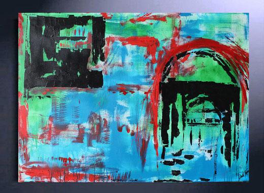 Richard Toveen - Roma Capitale  - olio su tela - 100 x 70