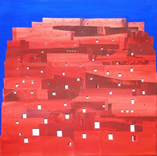Bartolozzi Giovanni - Babele - tecnica mista tela - 50 X 50