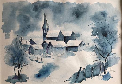 Bonfanti Elvira - Nel paese dei sogni - acquerello su carta - 50 x 35