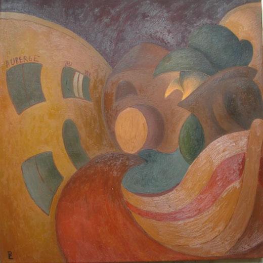 Boria Laura - Auberge du ver Olio, Tela, 80x80x4cm
