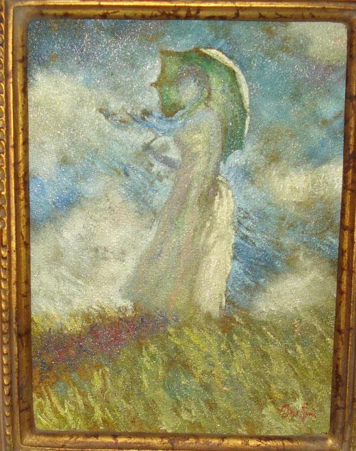 Paolo Onestini - Studio su Claude Monet - olio su tavola di legno - 18 x 24