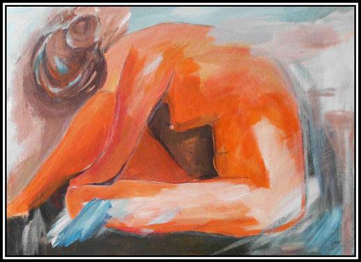 Martine Jaeger- Nudo -  acrilico  su tela - 50 x 70