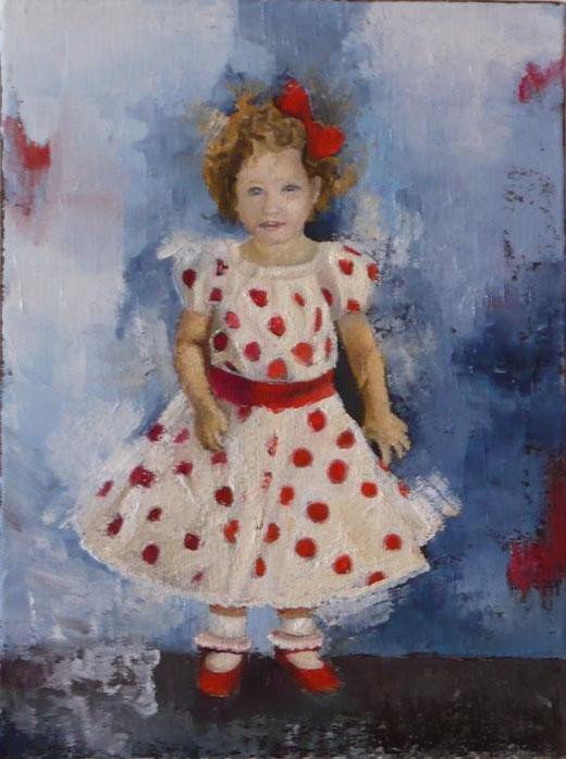 Zambon Monica – La bambola di Carlotta - olio tela 30 X 40