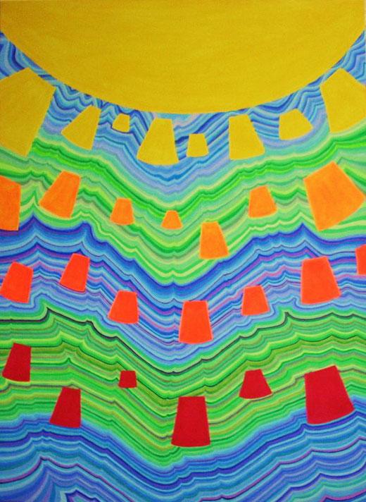 Valentina Paglia - Lluvia de sol - acrilico su tela - 73 x 100