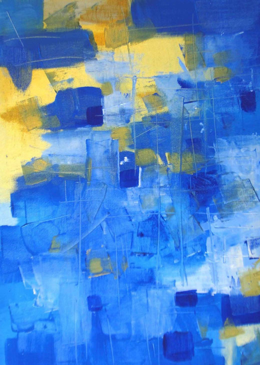 Natalia Khromykh (Ucraina) - Abstraction - olio tela - 50 x 70