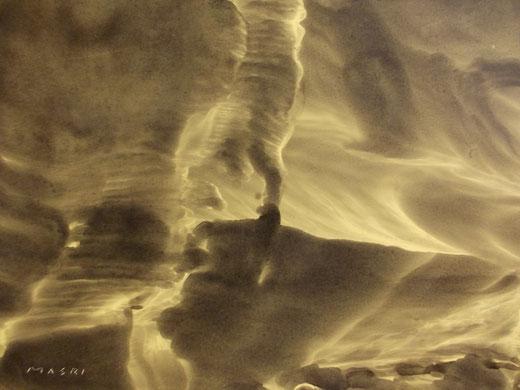 Masri (Libano) - Anatomy of nature series - mixed media on paper - 35 x 25
