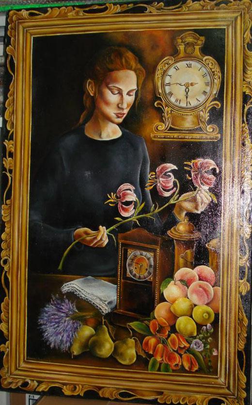 Valentina Dominici - Il tempo - olio su tela - 70 x 105