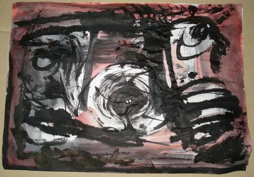 Adrian Lis - Astratto - acquerello su carta - 30 x 20