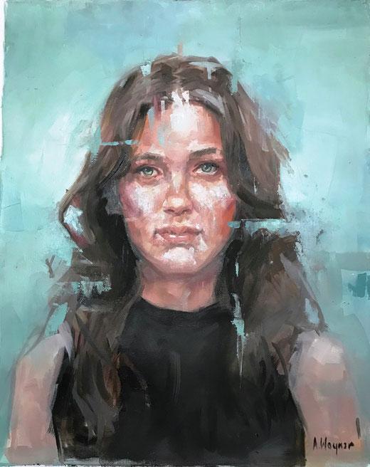 Woynar Alice - Portrait - olio su tela - 50 x 60