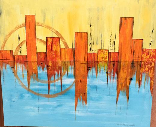 Chiara Rossetti - Dualità - acrilico su tela - 60 x 50