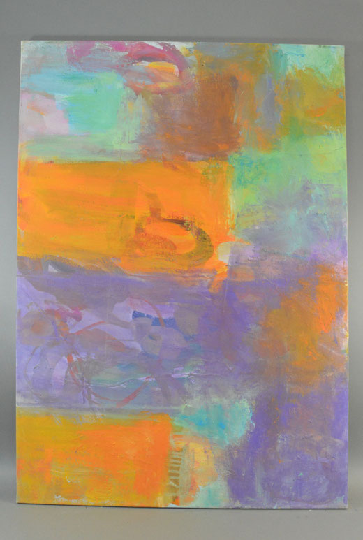 Olivier Steffens - Astratto - acrilico su tela - 100 x 70