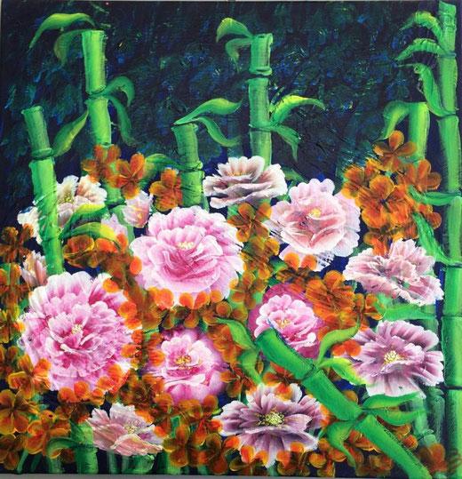 Battaglini Elena (Italia) - Izimbali - olio su tela - 50 x 50