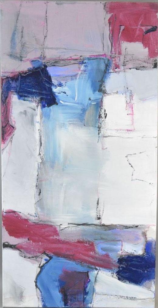 Olivier Steffens - Astratto - olio su tela - 100 x 50