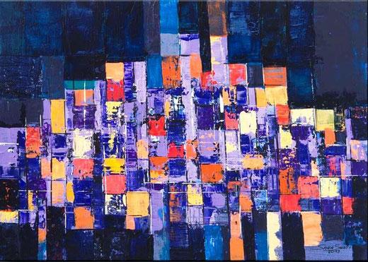 Swati Sara (Germania) - Cocooning - acrilico tela - 70 x 50