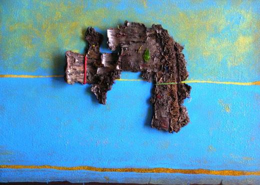 Pereyra Teresa (Argentina) - Strati arcaici - tecnica mista tela - 70 x 50