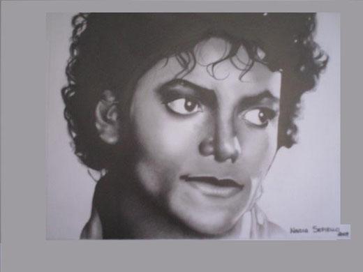 Nadia Sepiello - Michael Jackson -grafite su carta 33 x 33