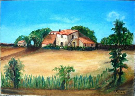 Fazzari Irene – U pagghiaru du Poru Olio, Tela, 70x50cm