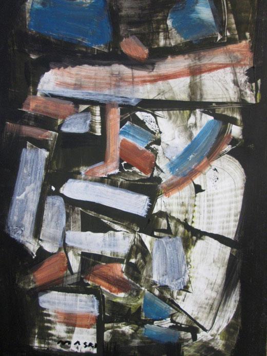 Masri Hayssam (Libano) Waiting for morning - olio su tavola di legno - 40 x 50