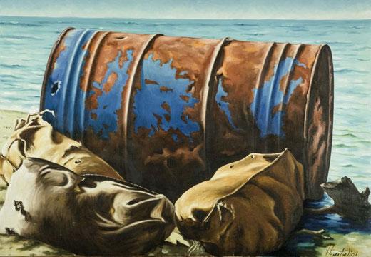Bartalini Fidio - Marina - olio su tela - 100 x 70