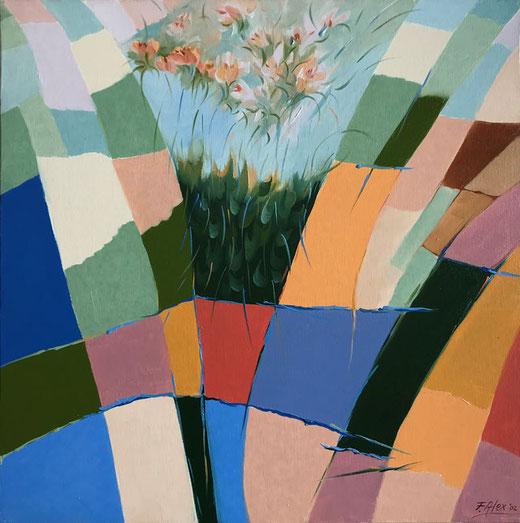 Fumagalli Alex - Percezioni - olio su tela - 50 x 50