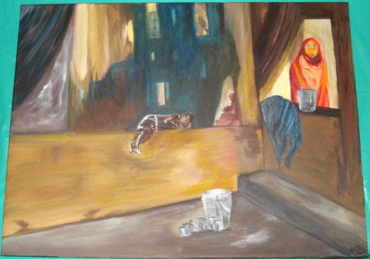 Cinzia Rizzotti - Mondo dimenticato - olio su tela - 70 x 50