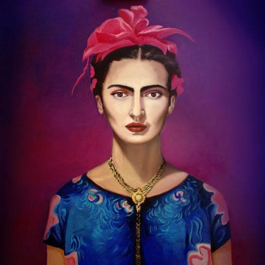 Kubiak Katarzyna (Polonia) - Frida Kahlo - olio tela -70 x 70