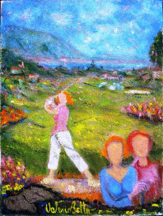 Betta Valerio (Italia) - Emozione ad ogni buca - olio tela - 30 x 40