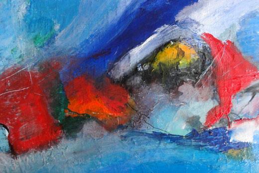 Andreas Gutt - Astratto - Acrilico su tela - 70 x 50