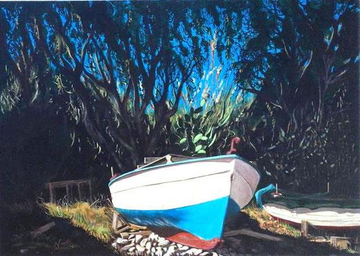 Nicosia Pino - Luci ed ombre - acrilico su tela - 70 x 50