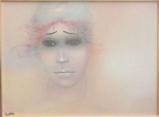 Sandro Zanellati - Pierrot - olio tela - 40 x 30