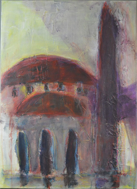 Olivier Steffens - Santa Sofia - olio su tela - 50 x 70