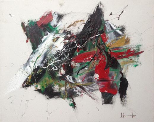 Silvio Formichetti - Teatrini - smalti tela - 50 X 40