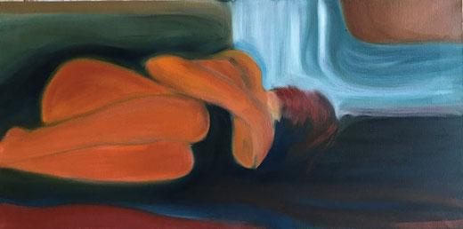 La Mantia Marilena - Donna - olio su tela - 80 x 40