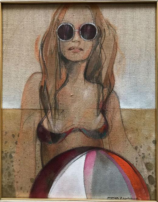 Pagnacco Andrea - Al mare - olio su tela - 40 x 50