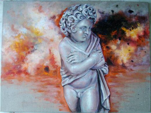 Massimino Margherita – Rinascita Olio, Tela, 80x60cm,