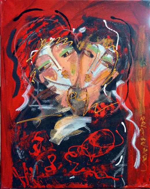 Hrair Sarkis Keusseyan (Armenia) – Femme – acrilico tela - 40 X 50