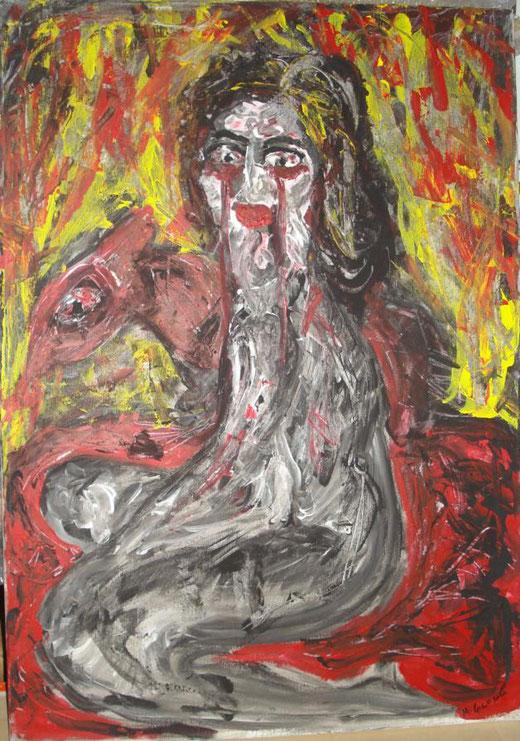 Michela Girasole - Madrigale Triste - acrilico su tela - 50 x 70