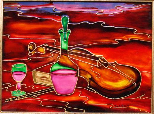 Sargas (Mario Grassa) – Paganini Tecnica mista, Tavola  Legno, 24x18cm
