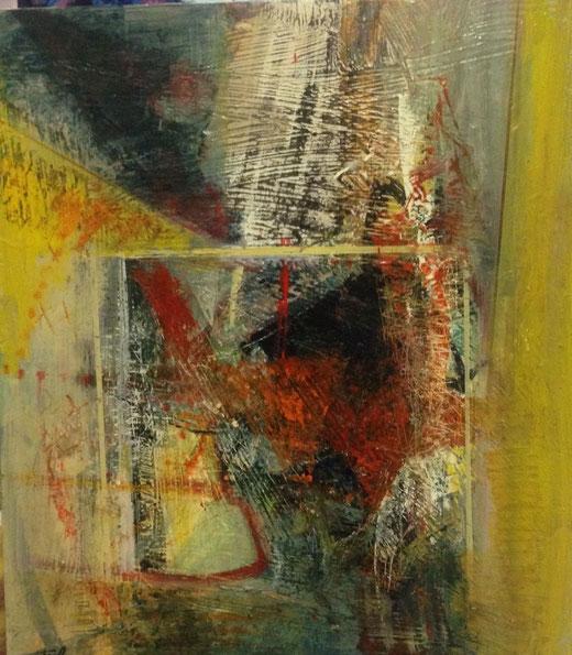 Crivellaro Gelindo (Italia) - Eclissi - olio su tela - 70 x 80
