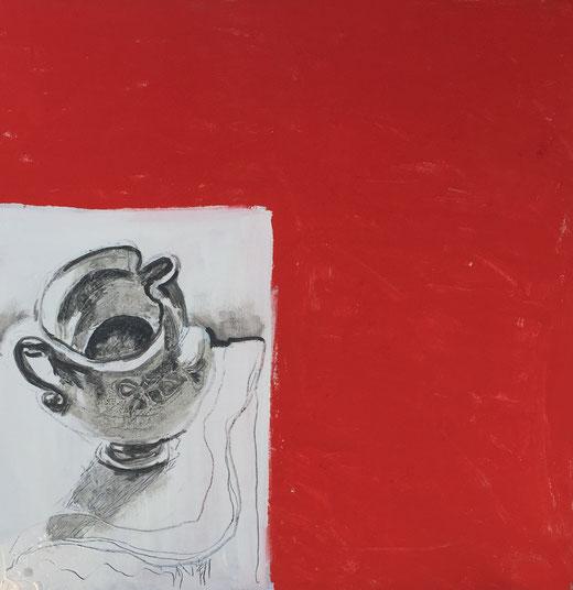 Silvano Debernardi - Caraffa - Acrilico su tela - 100 x 100