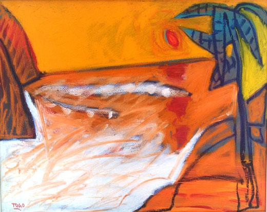 Togo (Italia) - Risacca - olio su tela - 50 x 40