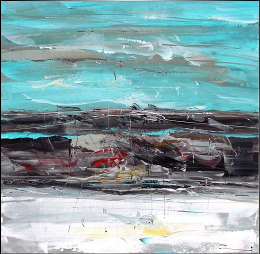 Susanne Zenichowski - Astratto - olio su tela - 100 x 100