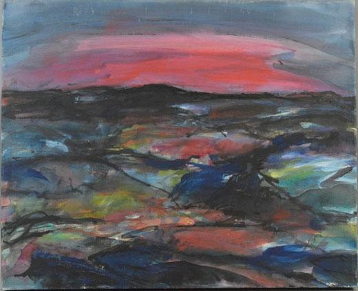 Olivier Steffens - Astratto - olio su tela - 40 x 50