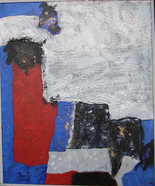Wolf Scholz - Realtà ostile - acrilico su tela - 50 x 70