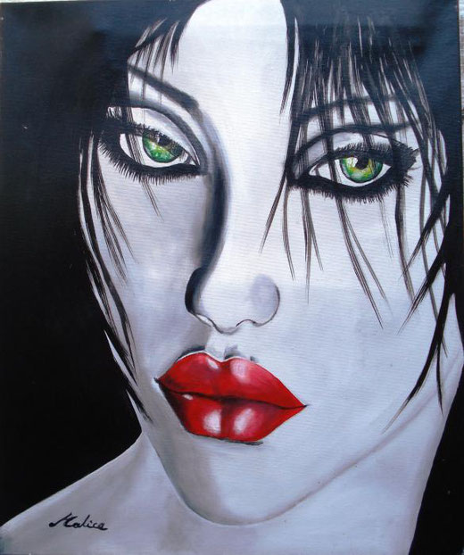 Alice Mauro – Pensandoti Acrilico, Tela, 50x60cm