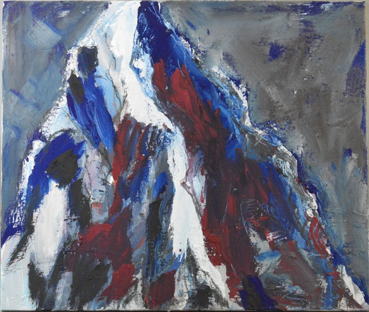 Olivier Steffens - Alpi - Acrilico su tela - 60 x 50
