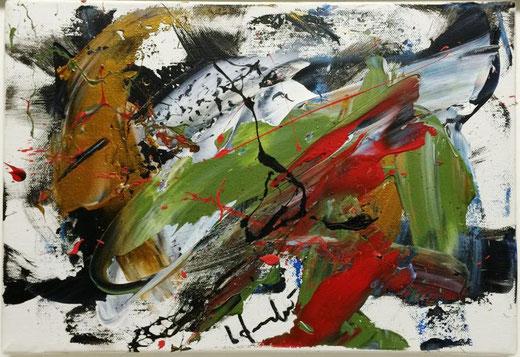 Formichetti Silvio (Italia) - Teatrini - olio su tela - 35 x 25