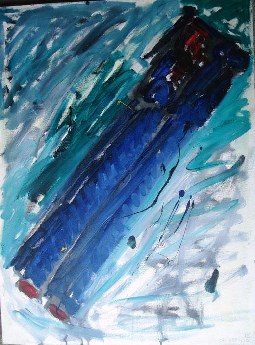 Xante Battaglia - Figura arcaica - acrilico tela - 70 x 100